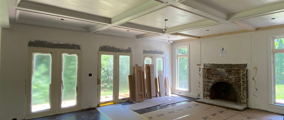 The coffered ceilings really make this room.