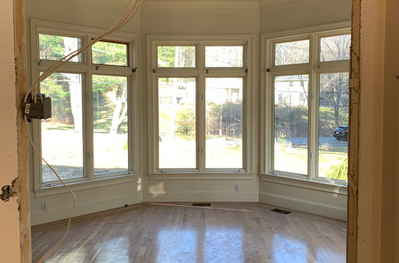 Opening up the doorway from Kitchen into the Sunroom