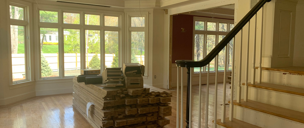 The new hardwood floors have been delivered.