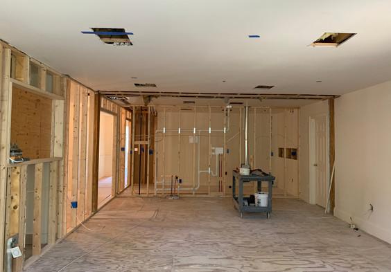 Master Bedroom - Rough HVAC complete.