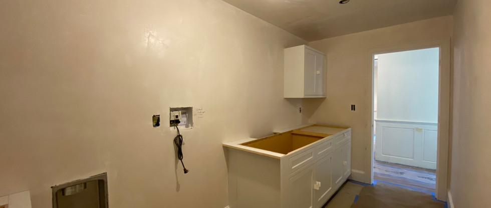 Next week the countertops and laundry sink go in.