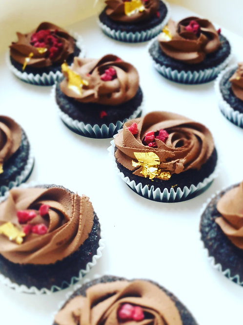 12 Pack -  Vegan Chocolate Cupcakes (2 days notice required)