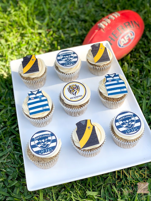 GRAND FINAL Cupcakes - 12 PACK (delivery/pick up Saturday 24th October)