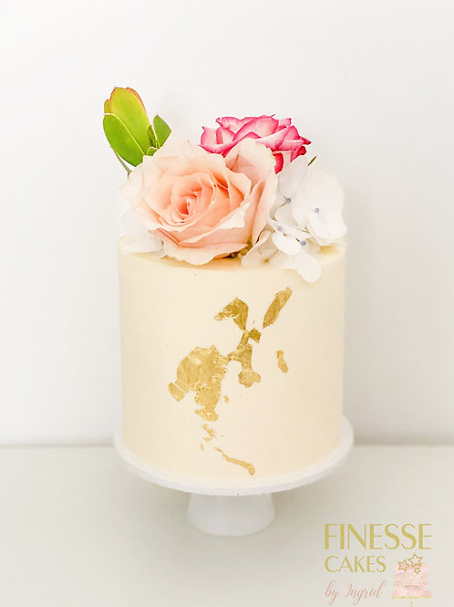 Cake & Blooms - Mini Cake (5 days notice required)