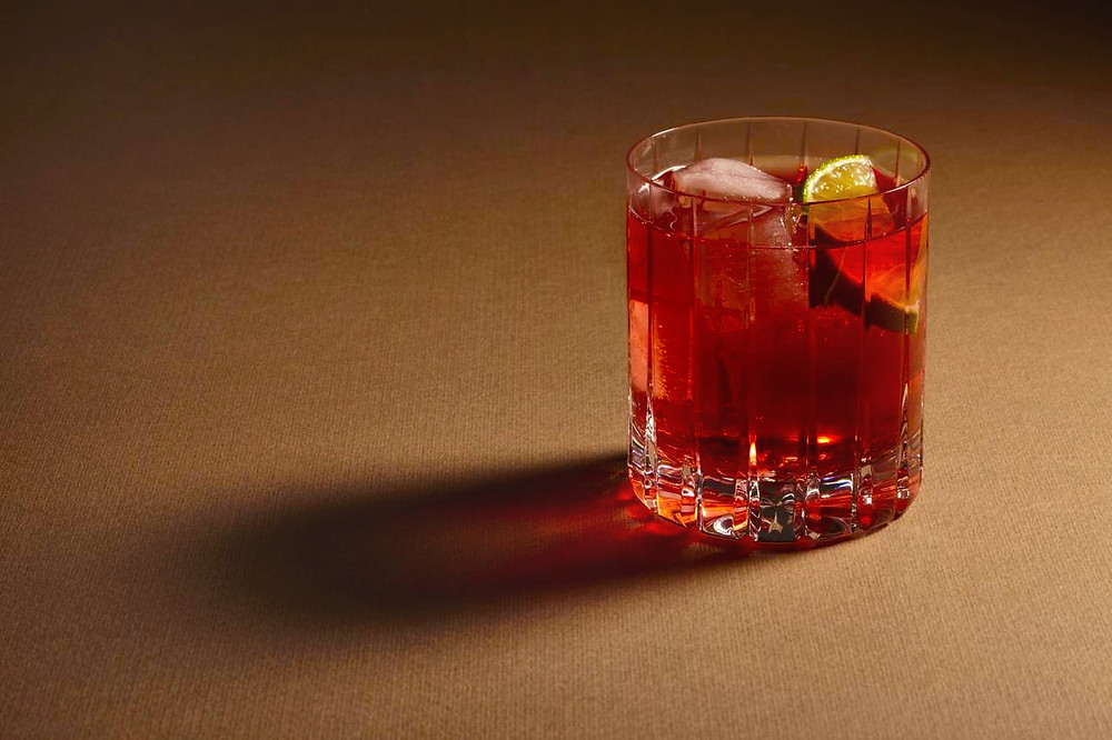 You can always count on cranberry for a pop of colour and tartness. This straight-forward drink is also known as: Cape Cod, Bog-Fog, or simply, vodka cran. A dash of syrup & orange juice, if you have on hand, adds a bit of body & really brings out cranberry's flavour!