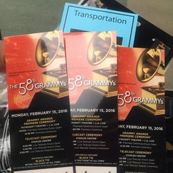 Got my GRAMMY Awards 2016 tickets! Excited for the big show tomorrow