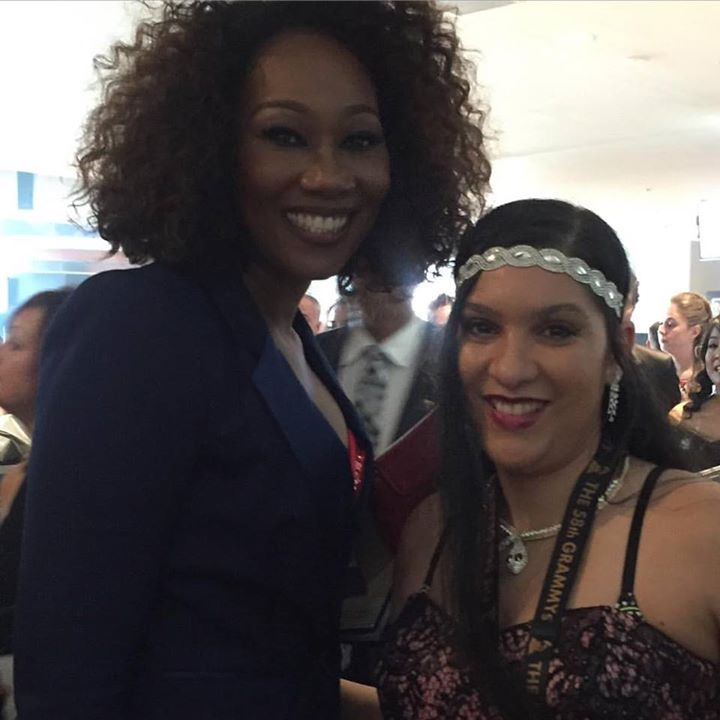With singer Yolonda Adams  _ the 58th Grammys Awards #grammyawards2016