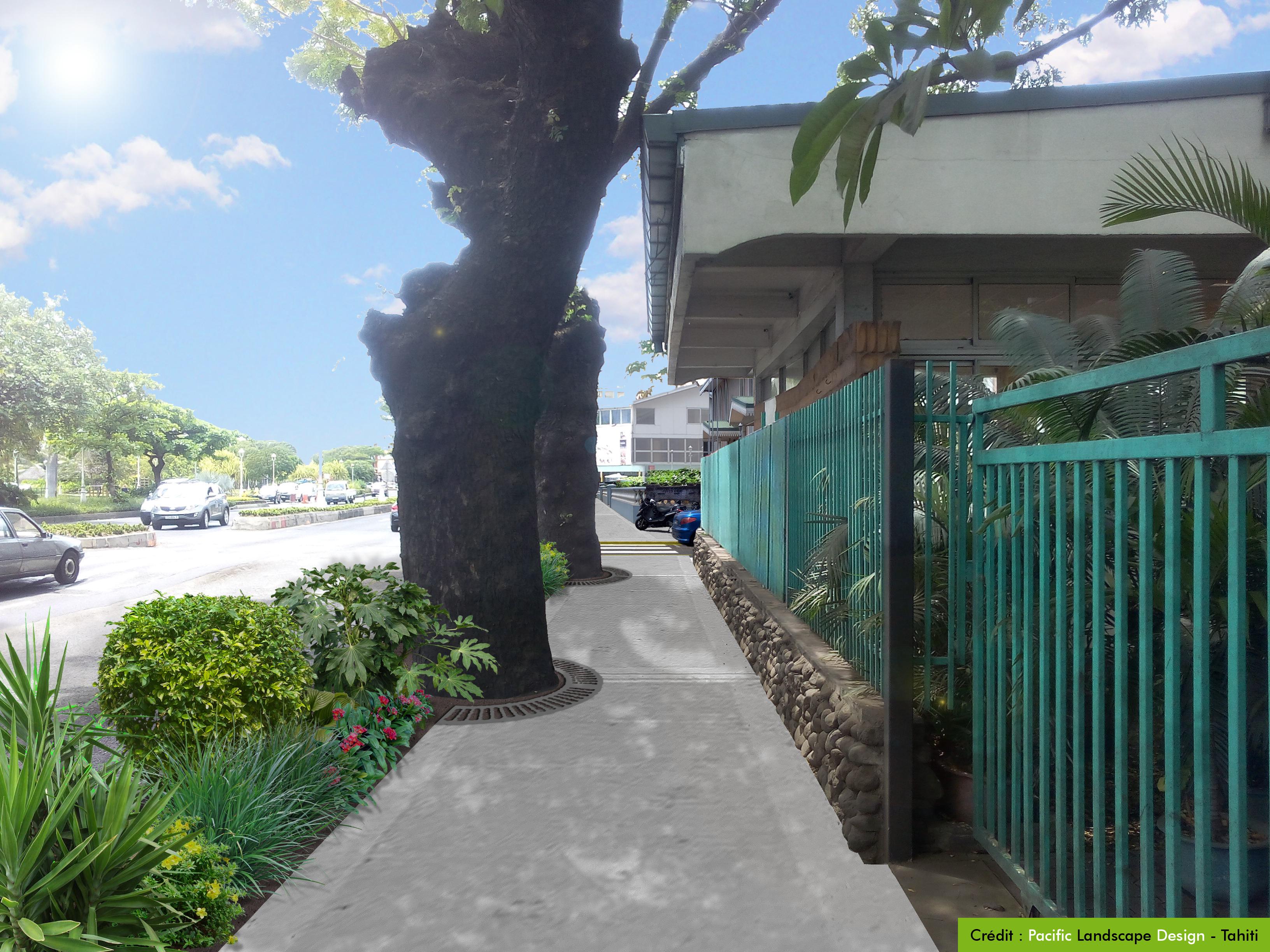Trottoirs de Paofai, Papeete