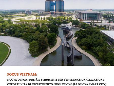 Nuove opportunità e strumenti per l'internazionalizzazione. Opportunità di investimento: Binh Duong