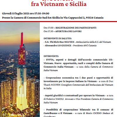 """""""Incontro tra Vietnam e Sicilia"""" a Catania"""