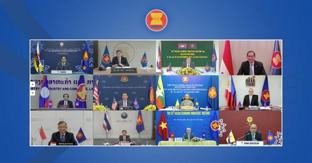 53esimo meeting tra i ministri dell'economia dell'ASEAN svolto virtualmente - Foto di asean.org
