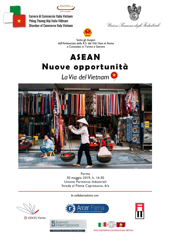 """Locandina """"Asean nuove opportunità: La Via del Vietnam"""""""