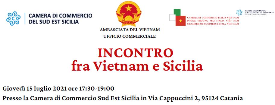 """Banner evento Catania """"Incontro fra Vietnam e Sicilia"""""""