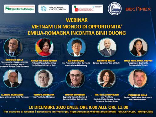 L'Emilia-Romagna incontra la provincia di Binh Duong: Memorandum per la cooperazione economica