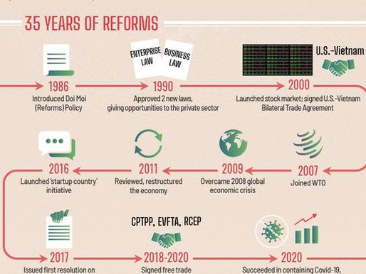 Come si è trasformata l'economia vietnamita in 35 anni di riforme economiche