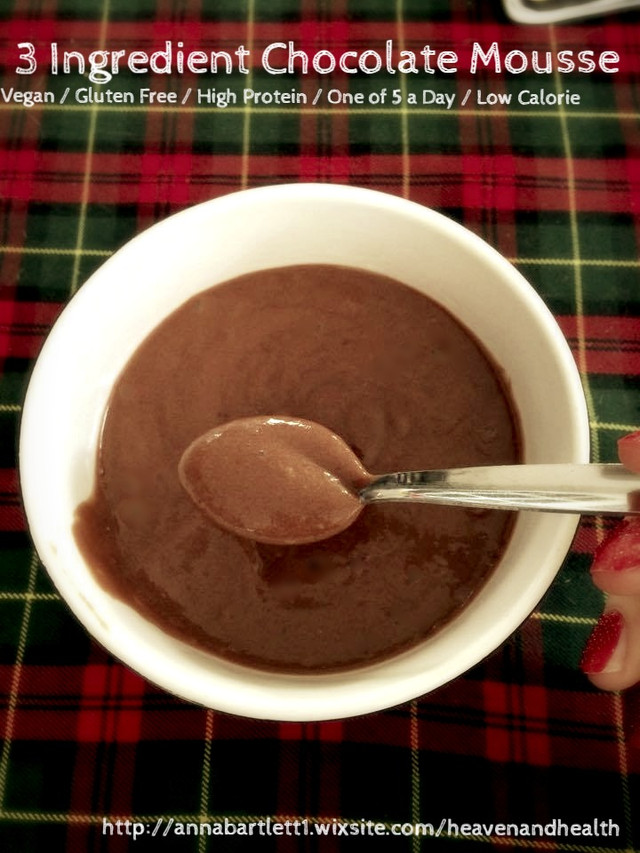 3 Ingredient Chocolate Protein Pudding
