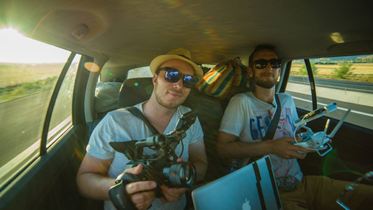 Peter and Torkild on their way to Mongolia