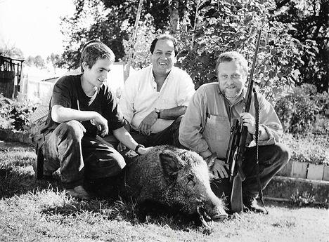 Johan, Hervé and Johan's father Jean-Paul Herault.