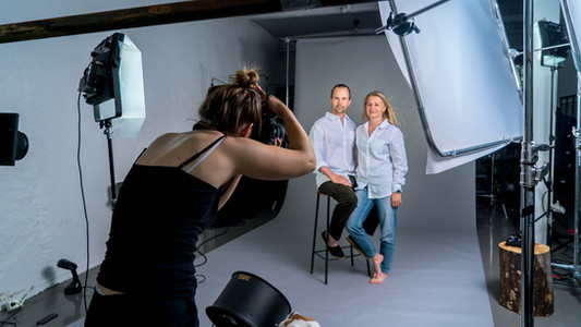 Photoshoot with Storm linen shirts