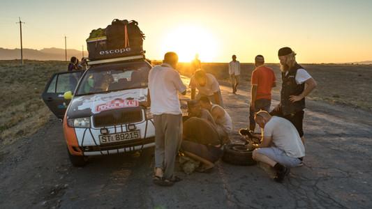 Behind the scenes fra TV-Serien Over Land på NRK