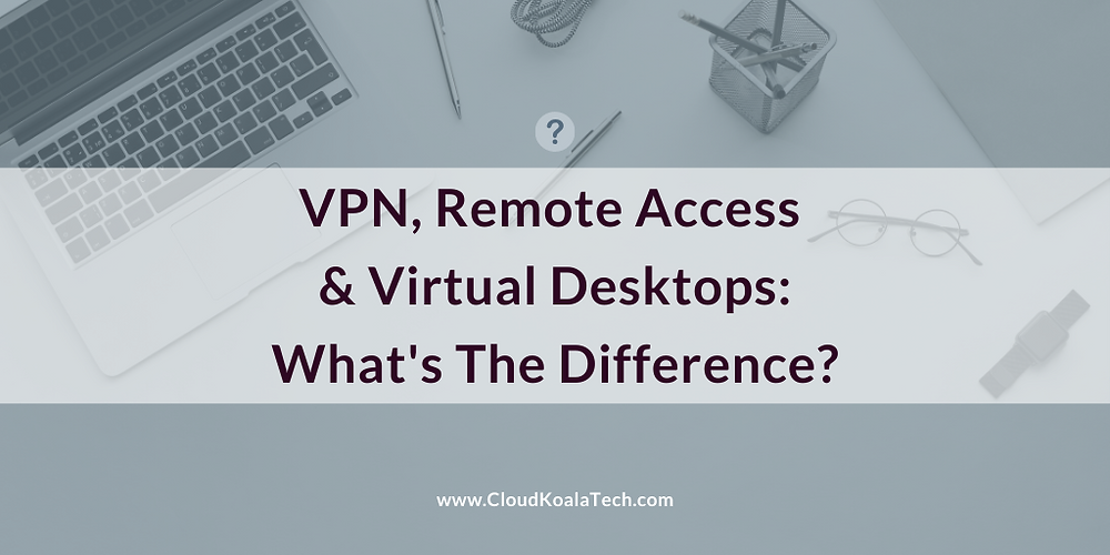 VPN, Internet Remote Access & Virtual Desktops comparison