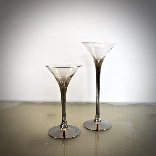 Deko Glas - silber/gold