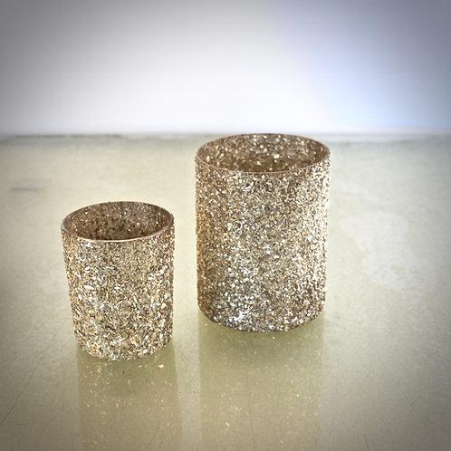 Vase Glas - gold
