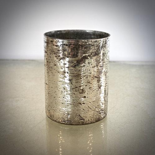 Vase Zylinder - gold/silber