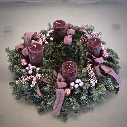 Adventkranz - violett