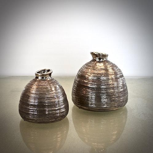 Vase Glas - silber