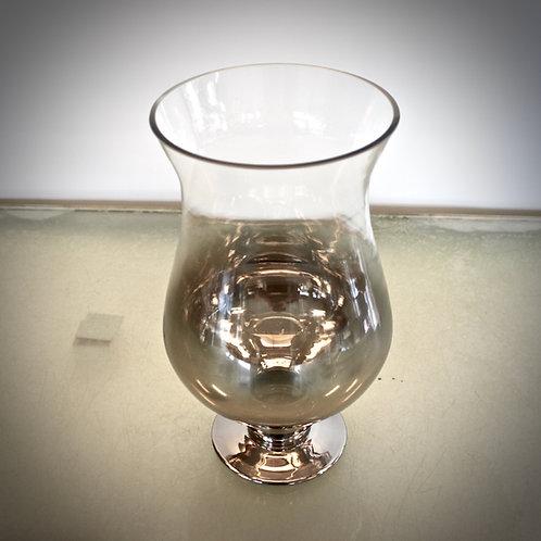 Glas Vase - gold/silber