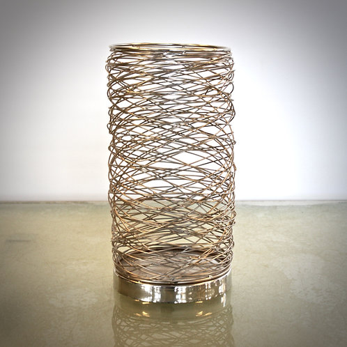 Draht Gefäß - gold/silber