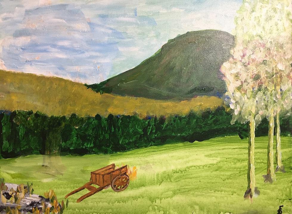 Vue du  Mont Éléphant  Acrylique  20x24