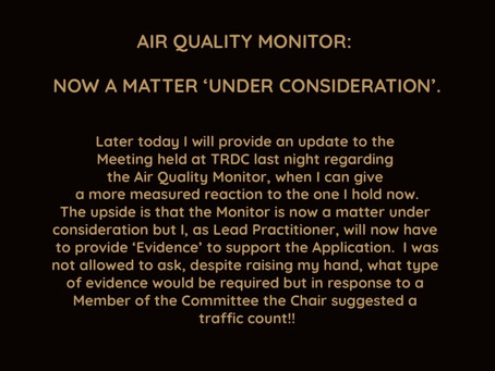 AIR QUALITY MONITOR PETITION HEARD IN TRDC