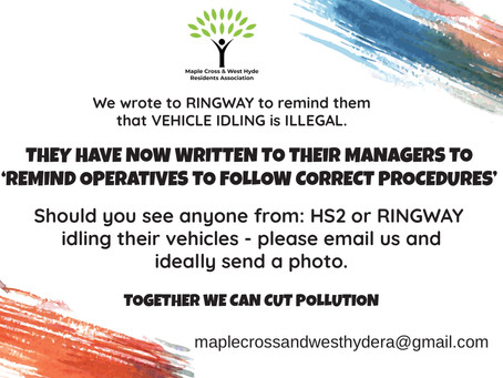 VEHICLE IDLING - IT IS ILLEGAL STOP IT!
