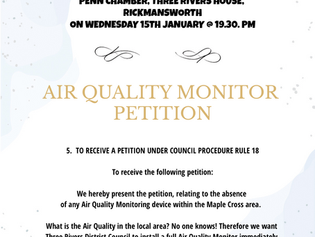 AIR QUALITY MONITOR PETITION