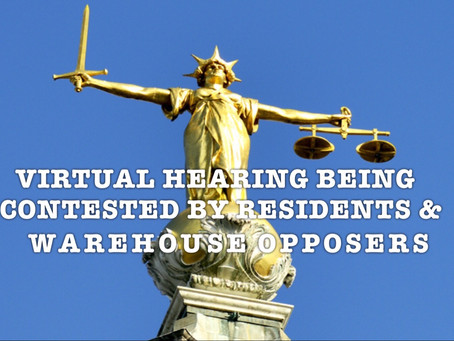 RESIDENTS OPPOSE VIRTUAL WAREHOUSE HEARING