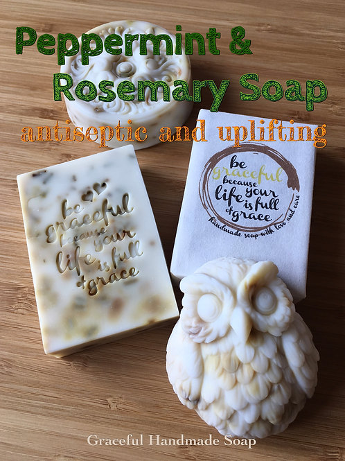 Peppermint & Rosemary Uplifting Soap 薄荷迷迭香醒神抗菌皂