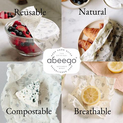 Abeego Beeswax Food Wrap 加拿大食物保鮮蜂蠟布