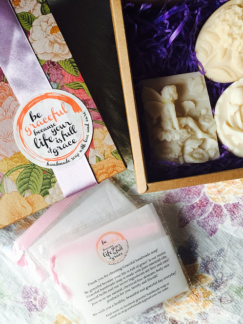 3 Soaps Gift Box Set 3件手工皂禮盒套裝