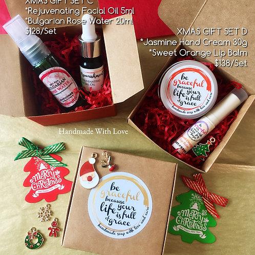 Natural Skincare Xmas Gift Set 天然護膚聖誕禮品套裝C, D