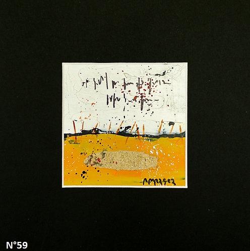 Petit format bristol 20x20cm. N°59