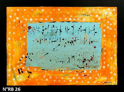Petit format bois 30x40cm N° RB26