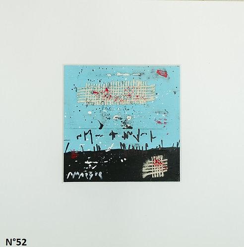 Petit format bristol 20x20cm. N°52