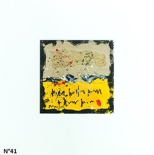 Petit format bristol 20x20cm. N°41
