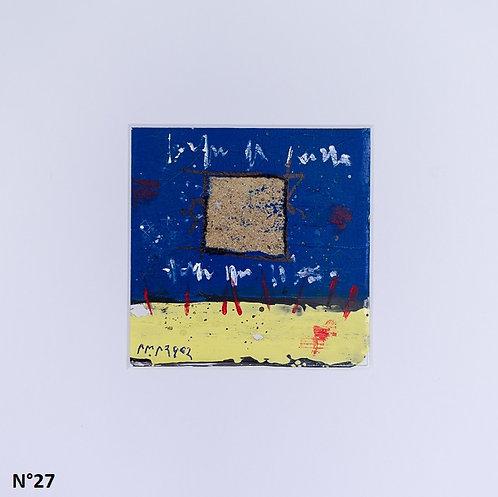 Petit format bristol 20x20cm. N°27