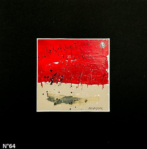 Petit format bristol 20x20cm. N°64
