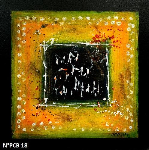 Petit format bois 30x30cm N° PCB18