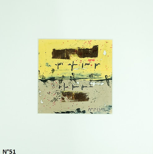 Petit format bristol 20x20cm. N°51
