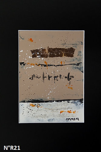 Petit format bristol 20x30cm N° R21
